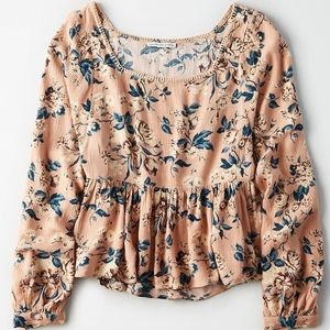 AE Long-Sleeve Floral Top